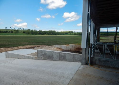 Agricultural concrete on farm