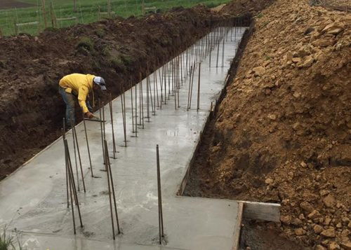 Rock Solid Concrete leveling concrete at Hawks Mill Winery