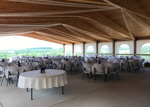 Haws Mill Winery finalized interior with tables and chairs