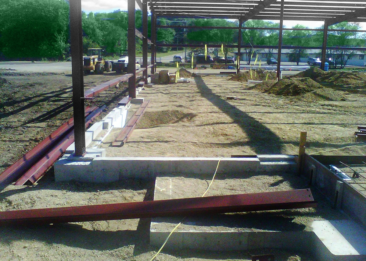Rock Solid concrete prepping footings for industrial slab