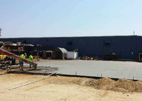 Rock Solid concrete pouring and leveling industrial slab