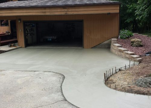 Concrete slab outside of residential home