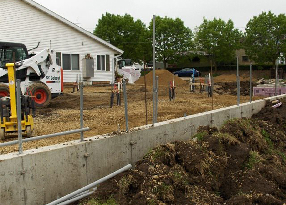 Prepped residential home for concrete